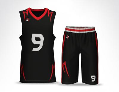 Pro V Neck Basketball Uniform BR