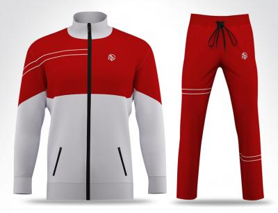 Pro White & Red Track Suit