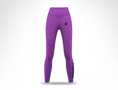 Purple Two Tone Ladies Long Leggings