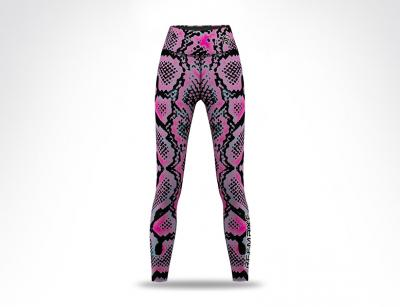 Snake Skin Sublimation Ladies Long Leggings